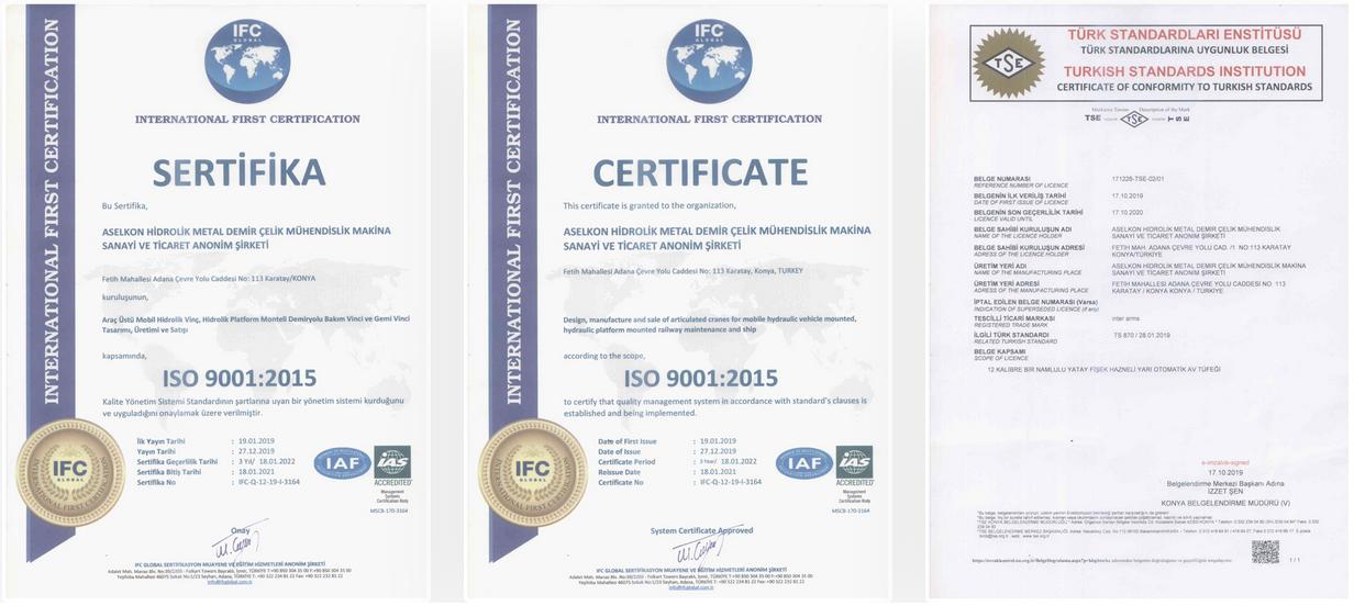 официальный сертификат aselkon